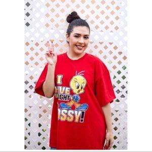 Vintage Looney Tunes Tweety Bird Bossy Tshirt